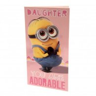 Despicable Me Minion Birthday Card Daughter