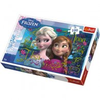 Wholesale Disney Frozen Elsa and Anna 100 pcs Puzzle