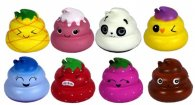 Wholesale Squishies Squishy CRAZY POO Assorted Designs (16 pcs)