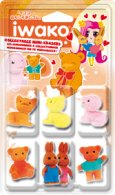 Box of Iwako Gummy Japanese Erasers - 7 Figure Pack (18 pcs)