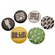 Billie Eilish Button Badge Set Stickman