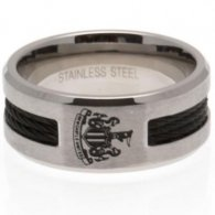 Newcastle United F.C. Black Inlay Ring Large