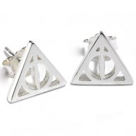 Harry Potter Sterling Silver Earrings Deathly Hallows