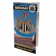 Newcastle United F.C. Birthday Card & Badge