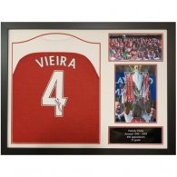 Arsenal FC Vieira Signed Shirt (Framed)