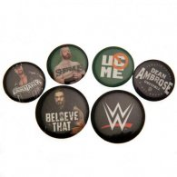 WWE Button Badge Set