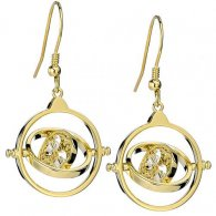 Harry Potter Gold Plated Swarovski Earrings Time Turner