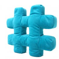 PRE-ORDER Wholesale Hashtag Cushion TOTALLY TEAL Soft