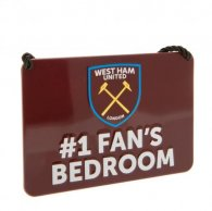 West Ham United F.C. Bedroom Sign No1 Fan