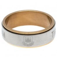 West Ham United FC Bi Colour Spinner Ring Large