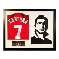 Manchester United F.C. Cantona Signed Shirt Silhouette