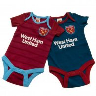 West Ham United F.C. 2 Pack Bodysuit 0/3 mths BL