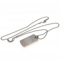 Leicester City F.C. Engraved Crest Dog Tag & Chain