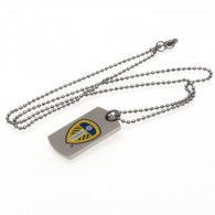 Leeds United F.C. Colour Crest Dog Tag & Chain