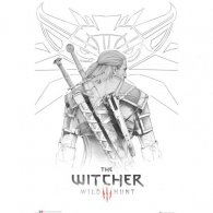The Witcher Poster Geralt Sketch 219