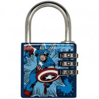 Marvel Comics Brass Padlock Captain America