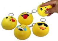 Wholesale Squishy Squishies Keyrings Soft SMILEY FACES (15 pcs)
