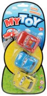 Wholesale Box of My Toy 3 pack Cutie Vehicles (12 pcs)