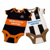 Newcastle United F.C. 2 Pack Bodysuit 0/3 mths