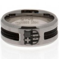 F.C. Barcelona Black Inlay Ring Small