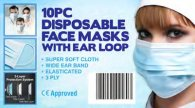 Wholesale Disposable Face Masks 3 Ply Anti Viral 10 pack (50 pcs)