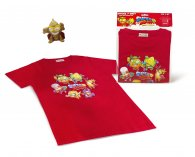 Wholesale Superzings Rivals of Kaboom T-Shirts RED + 1 Golden Superzing (5 pcs)