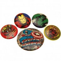 Marvel Comics Button Badge Set