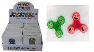 Wholesale Fidget Hand Finger Spinners GLOW IN THE DARK SMILE -24