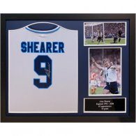 England FA Sheraer Signed Shirt (Framed)
