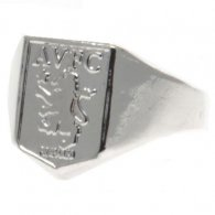 Aston Villa F.C. Silver Plated Crest Ring Large