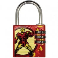Marvel Comics Brass Padlock Iron Man