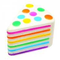 Wholesale Squishies Squishy RAINBOW CAKE Slow Rising Toy (3 pcs)