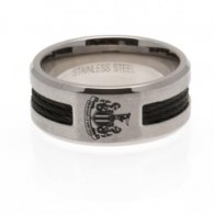 Newcastle United F.C. Black Inlay Ring Medium