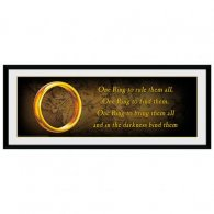 The Lord Of The Rings Picture One Ring 30 x 12