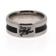 Manchester United F.C. Black Inlay Ring Large
