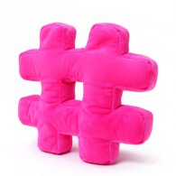 PRE-ORDER Wholesale Hashtag Cushion HOT PINK Soft