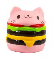 Wholesale Squishies Squishy PINK HAMBURGER Slow Rise Toy (3 pcs)