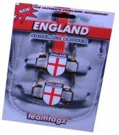 Pair of England Shoelace Badge