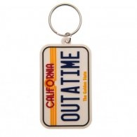 Back To The Future PVC Keyring License Plate