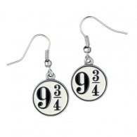 Harry Potter Silver Plated Earrings 9 & 3 Quaters