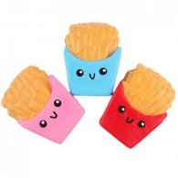 Wholesale Squishies Squishy Soft Toys Keychains FRIES (10 pcs)