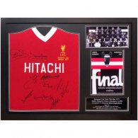 Liverpool FC 1977 European Cup Winners Signed Shirt (Framed)