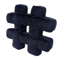 PRE-ORDER Wholesale Hashtag Cushion MIDNIGHT BLACK Soft