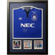 Everton FC Ferguson Signed Shirt (Framed)
