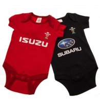 Wales R.U. 2 Pack Bodysuit 0/3 mths PS