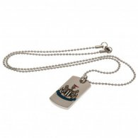 Newcastle United F.C. Colour Crest Dog Tag & Chain
