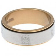 Manchester City FC Bi Colour Spinner Ring Large