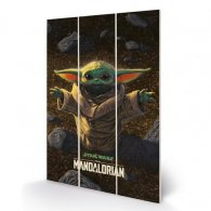 Star Wars The Mandalorian Wood Print