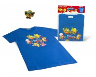 Wholesale Superzings Rivals of Kaboom T-Shirts BLUE + 1 Golden Superzing (5 pcs)