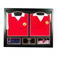Manchester United F.C. Charlton & Law Signed Shirts (Dual Fr